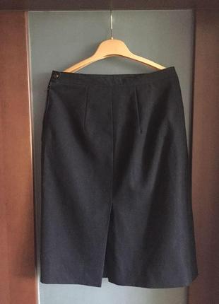 Черная юбка времен ссср классика ретро шерсть