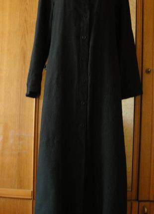 Супер стильное платье на пуговицах с разрезами! 100% лен разм 14\16