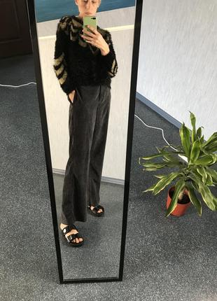 Шикарные брюки штаны палаццо вельвет лапша