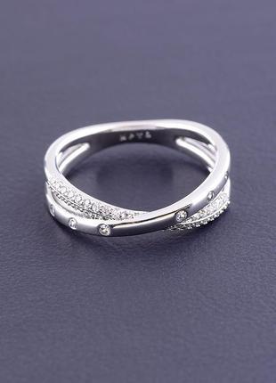 Кольцо 'xuping' фианит (родий) артикул 095140ск2