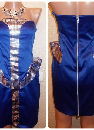 Шикарное модное праздничное платье по фигуре из баской бюстье