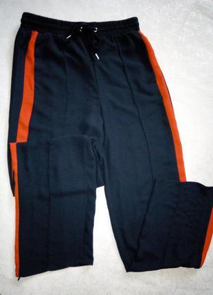 Легкие спортивные штаны*брюки  h&m  темно-синего цвета м-л