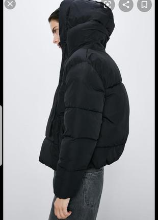 Zara зара короткая куртка пуффер , дутая , оригинал