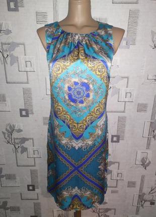 Шелковое платье в стиле версаче hallhuber