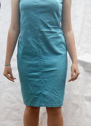 Платье голубое хлопок  misstwidd soft р.l 46