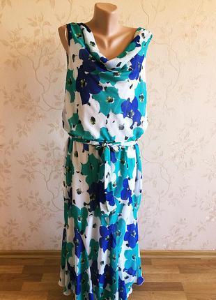 Большой размер! красивое легкое воздушное платье david emanuel, 56-58