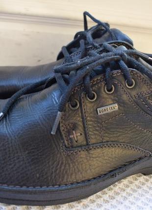 Кожаные туфли мембранные термотуфли полуботинки кларкс clarks gore tex