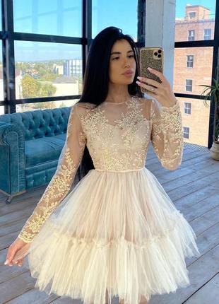 Платье праздничное пышное в ассортименте