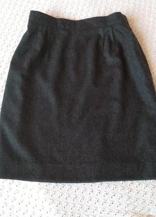 Шикарна спідниця шерсть кашемір престижного бренду юбка шерстяная теплая
