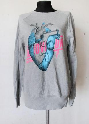 Свитшот с сердцем revolution органический хлопок