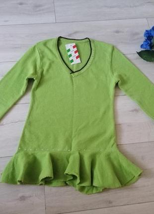 Яркая зима! свитер с баской