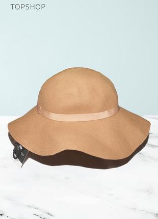 Шляпа из 100% шерсти topshop