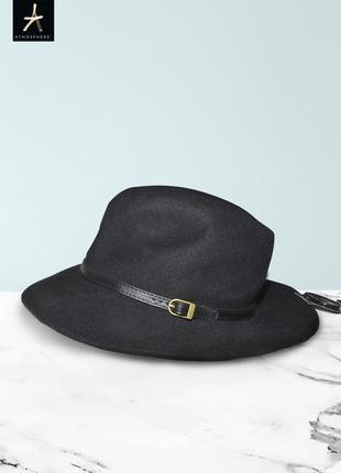 Новая черная шляпа из натуральной шерсти atmosphere