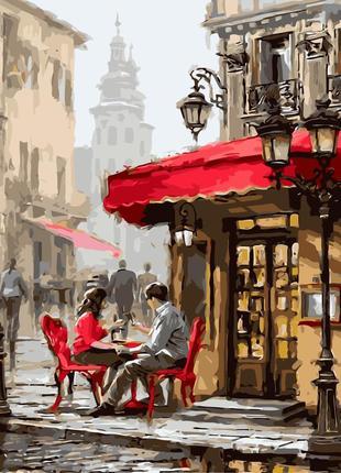 """Картина по номерах """"лондонське кафе"""""""