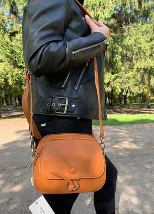 Сумка женская david jones оранжевая (дэвид джонс, сумочка, клатч, кошелек)