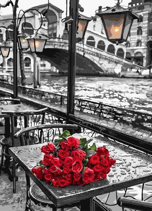 """Картина по номерах """"рози під дощем"""""""