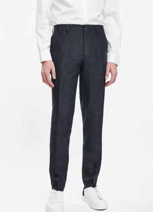 Костюмные брюки из тонкой шерсти cos