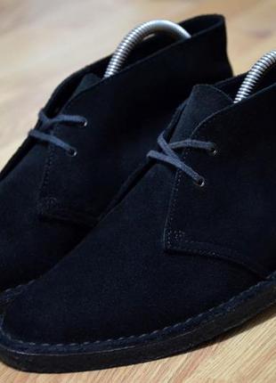 Clarks,  оригинал фирменные  замшевые дезерты  ботинки