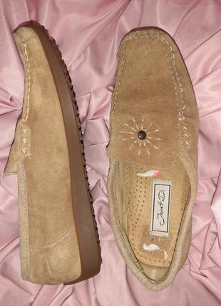 Замшевые мокасины, туфли, 38.