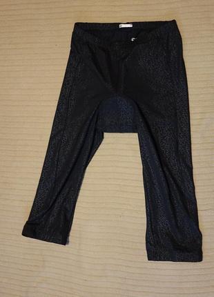 Стильные черные принтовые удлиненные велошорты с фирменным памперсом campagnolo италия m