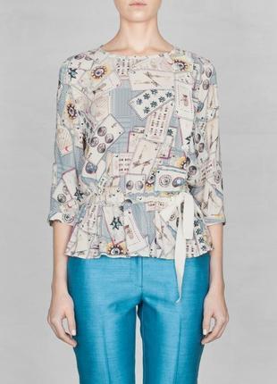 Стильна блуза в принт таро & other stories за спокусливою ціною до 31.10