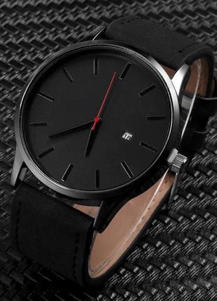 Черные мужские часы