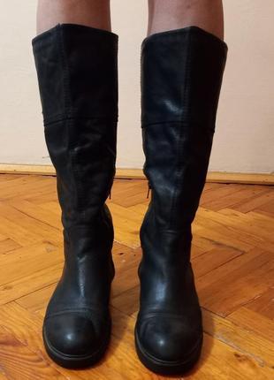 Зимние кожаные сапоги vagabond