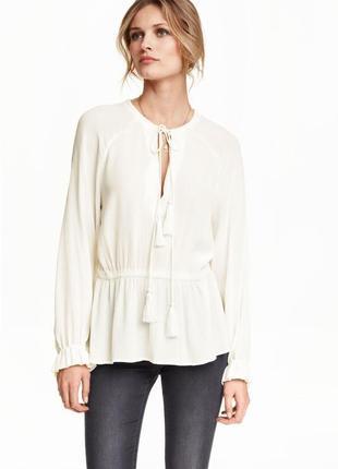 Блузка з жатой тканини h&m за спокусливою ціною до 31.10