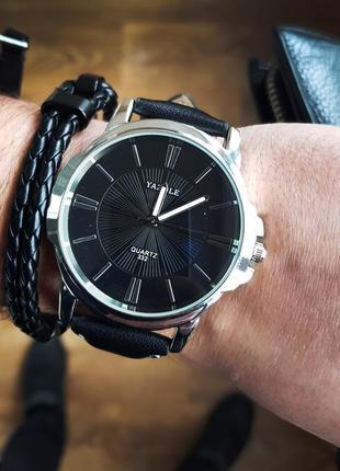 Черные классические мужские часы
