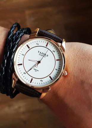 Темно-коричневые мужские часы