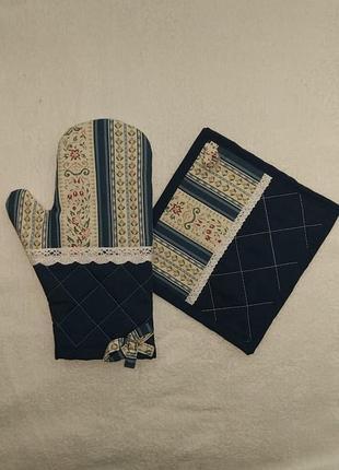 Кухонный набор прихватка рукавица подарок