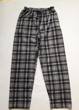 Суперовые флисовые тёплые домашние брюки в клетку harvey james