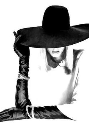 Кашемировая шляпа с широкими полями