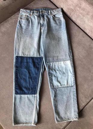 Monki супер джинсы slouchy мом завышенной посадкой бананы тренд (zara cos h&m acne)