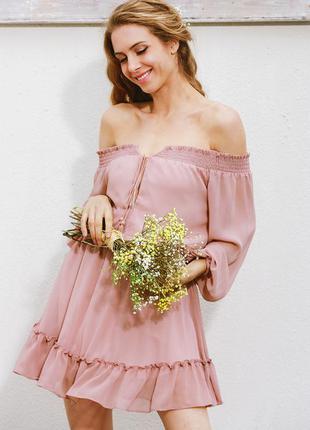 Платье пудрового цвета. новое!