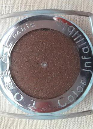 Тени для век l'oreal color infaillible  № 012 endless chocolat