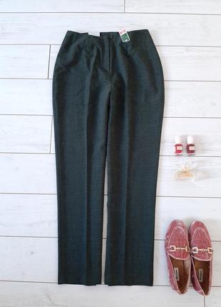 Лаконичные классика брюки на высокой посадке
