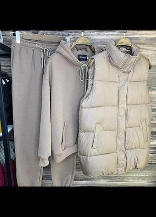Тёплый костюм тройка