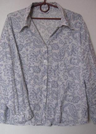 Рубашка в серый принт с бисером распродажа рубашек 50-120 грн!!!