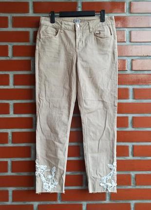 Liu-jo бежевые женские джинсы бойфренды размер s m лиу джо б у