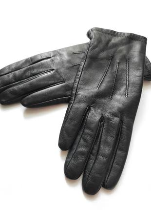 Кожаные перчатки h&m.размер м.