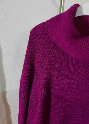 Оверсайз свитер цвета фуксия