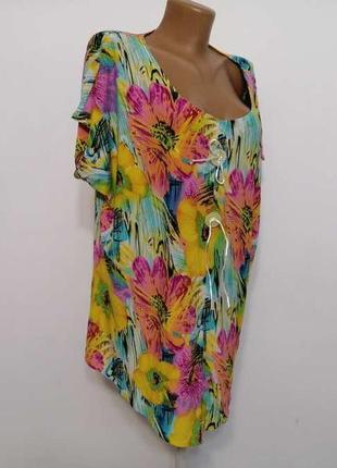 Блузка цветы, как новая!