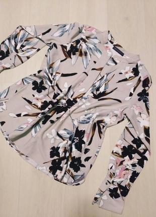 Шикарная блуза рубашках цветы