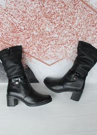 Зимние кожаные сапоги, сапожки, полусапожки 37, 40 размера