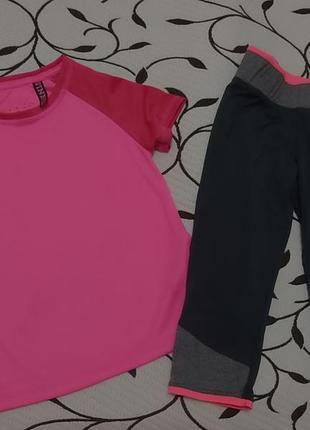 Костюм для спорта на девочку 6-7 лет, сборный, фирменный