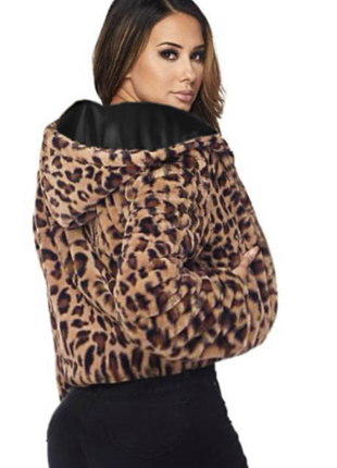 Куртка-шубка,леопардовый принт