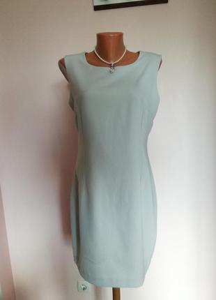 Елегантное светло серое французское платье - футляр /l-xl/brend maxima paris