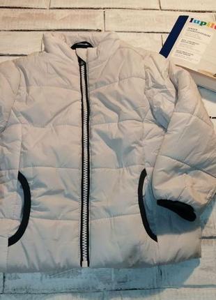 Теплая деми курточка на 5-6лет