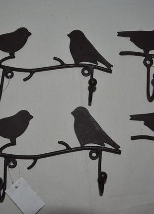 Фирменный декор металлическая вешалка гачек гачки для одежды прованс птицы птички